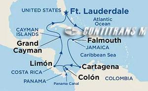 Panama Canal on Caribbean Princess