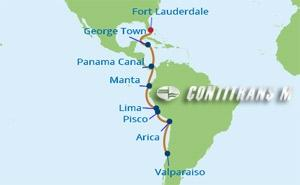 IN 15 NIGHT CANAL & SOUTH AMERICA CRUISE
