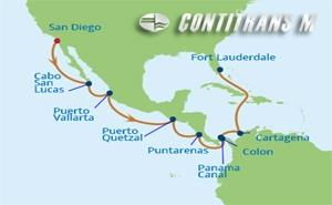 IN 15 NIGHT EASTBOUND PANAMA CANAL CRUISE