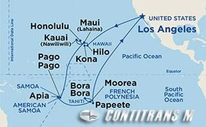 Hawaii, Tahiti & Samoa on Emerald
