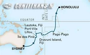 Crossing the South Pacific on Noordam
