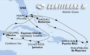 United States, Jamaica, Cayman Islands, Mexico, Bahamas, St. Maarten, Puerto Rico
