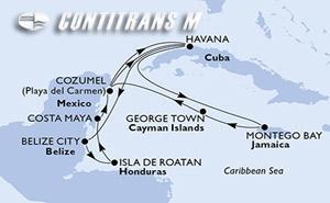 Cuba, Belize, Honduras, Mexico, Jamaica, Cayman Islands