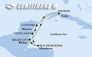 Cuba, Belize, Honduras, Mexico