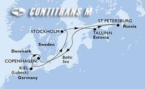 Denmark, Sweden, Estonia, Russian Federation, Germany