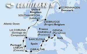 Denmark, Belgium, United Kingdom, Spain, Portugal, Gibraltar, France, Italy