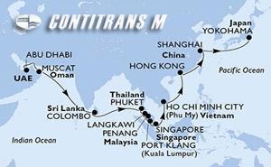 United Arab Emirates, Oman, Sri Lanka, Thailand, Malaysia, Singapore, Vietnam, Hong Kong, China, Japan