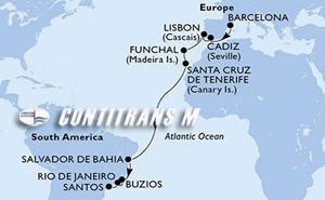 Spain, Portugal, Brazil