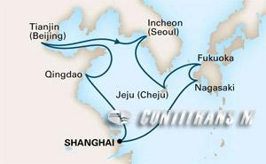 China, South Korea & Japan on Westerdam