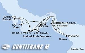 United Arab Emirates, Bahrain, Qatar, Oman
