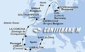 Germany, Denmark, Belgium, United Kingdom, Spain, Portugal, Gibraltar
