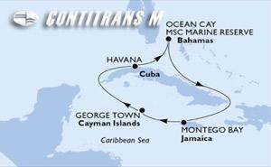 Cuba, Bahamas, Jamaica, Cayman Islands