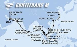 United Arab Emirates, Oman, Sri Lanka, Thailand, Malaysia, Singapore, Vietnam, Hong Kong, China