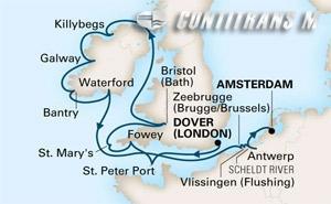 Britain, Netherlands & Belgium on Prinsendam