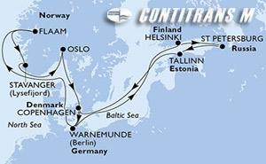 Denmark, Germany, Finland, Russian Federation, Estonia, Norway