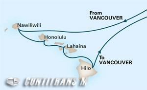 Circle Hawaii 16 day from Vancouver on Eurodam