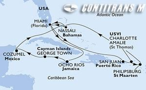 United States, Jamaica, Cayman Islands, Mexico, Bahamas, Puerto Rico, Virgin Islands (U.S.), St. Maarten
