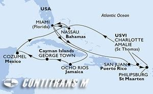 United States, Puerto Rico, Virgin Islands (U.S.), St. Maarten, Bahamas, Jamaica, Cayman Islands, Mexico