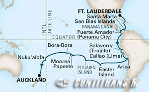 World Cruise Fort Lauderdale - Auckland on Amsterdam