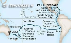 World Cruise Fort Lauderdale - Sydney 42 day on Amsterdam