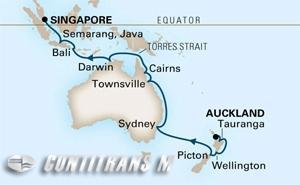 World Cruise  Auckland - Singapore  on Amsterdam