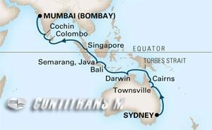 World Cruise Sydney - Bombay on Amsterdam