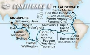 World Cruise Fort Lauderdale - Singapore 59 day on Amsterdam