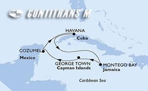 Cuba, Jamaica, Cayman Islands, Mexico