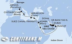 Italy, Greece, Egypt, Jordan, Oman, Qatar, United Arab Emirates