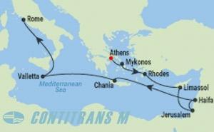 IN 12 NIGHT ISRAEL & MEDITERRANEAN CRUISE