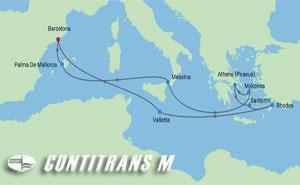 RF 12 NIGHT ITALY & GREEK ISLES  CRUISE