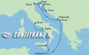 CS 10 NIGHT DALMATIAN COAST & ITALY CRUISE
