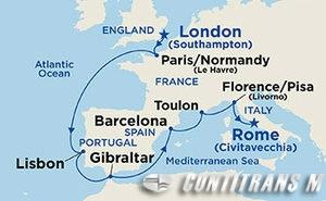 Around Europe from Southampton on Sapphire