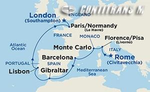 Around Europe from Civitavecchia on Sapphire