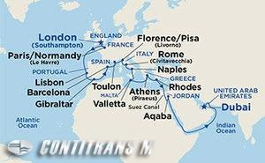 London to Dubai on Sapphire