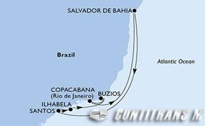 Santos, Ilhabela, Buzios, Copacabana, Salvador, Santos