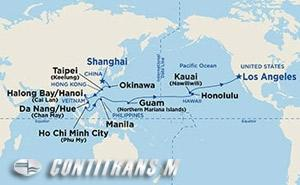 North Pacific Segment - Shanghai to Los Angeles on Coral
