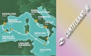 PR 9-NIGHT ITALY, MALTA & SPAIN VOYAGE