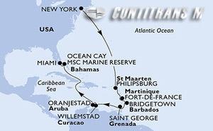 United States, St. Maarten, Martinique, Barbados, Grenada, Aruba, Bahamas