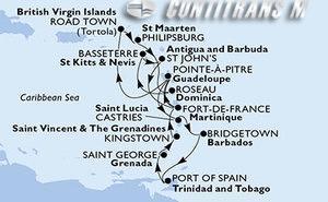 Martinique, Guadeloupe, Saint Lucia, Barbados, Trinidad and Tobago, Grenada, Saint Vincent & The Grenadines, Virgin Islands (British), St. Maarten, Dominica, Saint Kitts and Nevis, Antigua and Barbuda