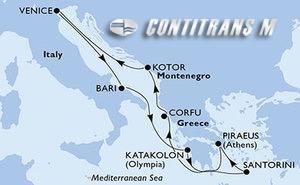 Italy, Greece, Montenegro