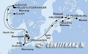 Germany, Denmark, Estonia, Russian Federation, Finland, Norway