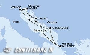 Italy, Slovenia, Croatia, Albania
