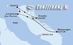 Italy, Croatia, Montenegro