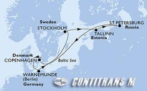 Denmark, Germany, Sweden, Estonia, Russian Federation