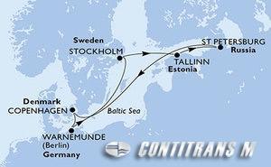 Germany, Sweden, Estonia, Russian Federation, Denmark