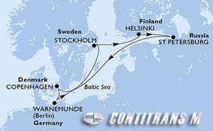 Denmark, Germany, Sweden, Finland, Russian Federation