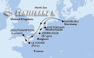 United Kingdom, Belgium, Netherlands, Germany, France