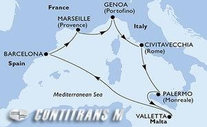 Italy, Malta, Spain, France