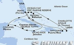 United States, Jamaica, Cayman Islands, Mexico, Bahamas, Puerto Rico, Virgin Islands (U.S.)